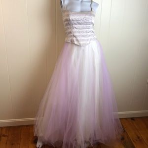 Scene Pale Lilac/Ivory/Silver Prom Dress/Ball Gown